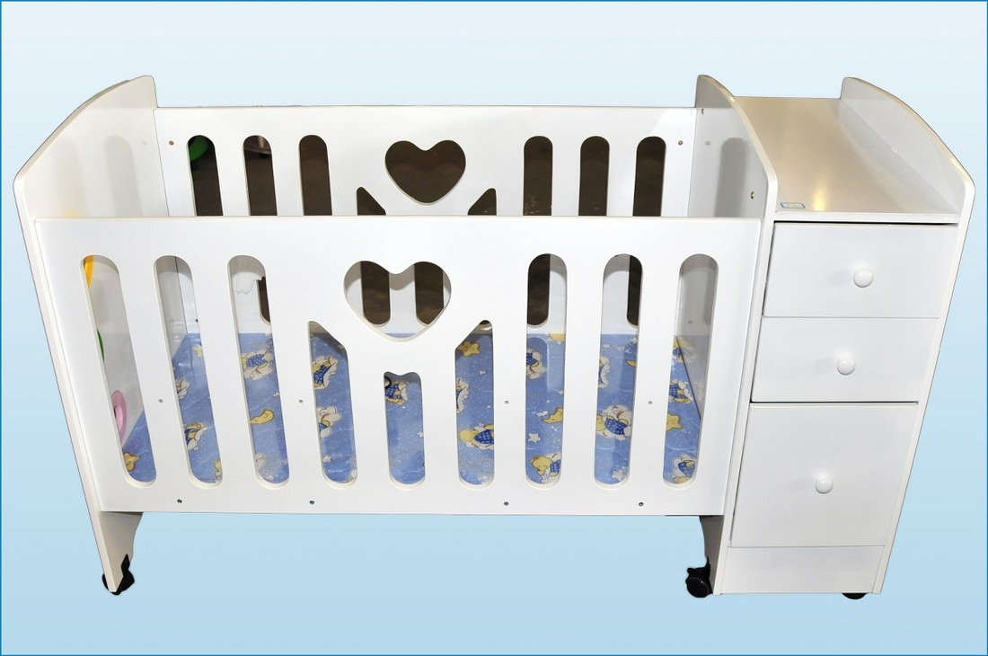 Childrens Cot No 410 2 Styles 4 Colours P184500
